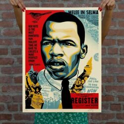 Shepard Fairey Obey Giant John Lewis Good Trouble Print Signed /550 In Hand