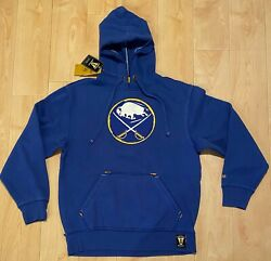 Nhl Ccm Vintage Buffalo Sabres Heavy Pullover Hoodie Jacket Size Men Small