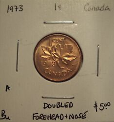 A Canada Elizabeth Ii 1973 Doubled Forehead And Nose Small Cent - Bu