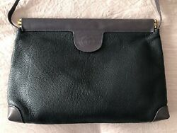 Authentic Vintage Gucci Leather Navy Purple Crossbody Bag Clutch $220.00