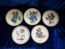 First Five Hummel Annual Collector Plates 1971-1975