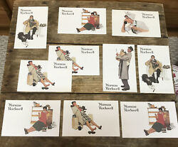 Vintage Norman Rockwell Postcards Advertising Red Rose Tea-new, Never Posted-10