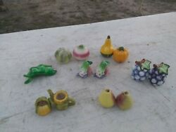 Seven Sets Of Vintage Various Fruit And Vegetable Salt And Pepper Shakers