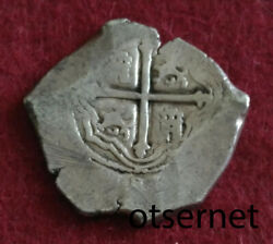 Unlisted Pirate Cob Spanish Colonial Silver 8 Reales Mexico P 1645