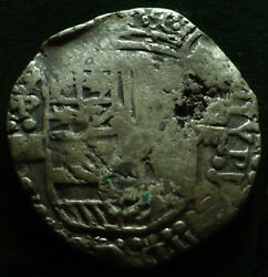 Lovely Pirate Cob And Spanish Colonial Silver 8 Reales Potosi P M Over Q 1617