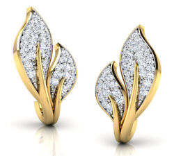 Christmas 1.60ct Natural Round Diamond 14k Solid Yellow Gold Stud Earring