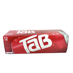 Tab Cola Soda One 12-pack Pop 12oz Cans New Unopened In Box Discontinued