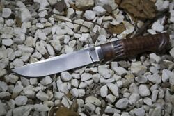Handmade Authorand039s S290 Tactical Survival Hunter Knife Brown Cayman