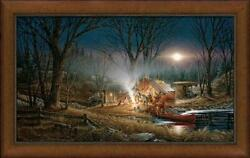 Campfire Tales Framed Museum Canvas By Terry Redlin