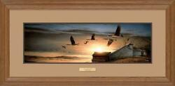 Clear View - Canada Geese Framed Horizon Print By Terry Redlin