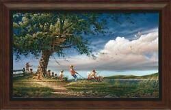 Spring Fever Framed Museum Canvas By Terry Redlin
