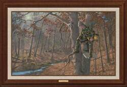 Church Of The Great Outdoors - Whitetail Deer Framed Limited Edition Canvas By M
