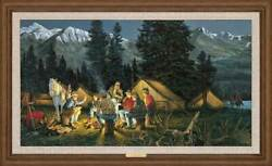 Tales We Tell - Camping Framed Limited Edition Canvas By Ron Van Gilder