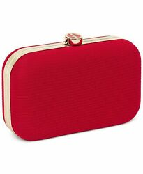 GIORGIO ARMANI Beauty Hot Red Gold Evening Clutch Pouch Purse Case Hand Bag NIB $29.75