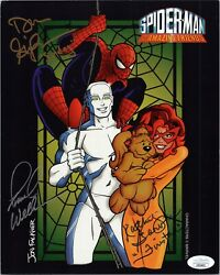 Spider-man And His Amazing Friends Cast X3 Signed Frank Welker8x10 Photo Jsa Coa
