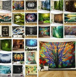 US Stock Hippie Room Tapestry Art Wall Hanging Psychedlic Throw Tapestries Decor