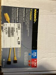 Marinco Boat Y-adapter 50a Male To 2-30a Female 125v Locking - Excellent