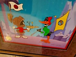 Planet X Limited Edition Cel/chuck Jones/daffy And Marvin The Martian 531/750