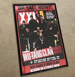 🔴 Wu-tang Poster Xxl Authentic Rza Method Man Raekwon Gza Rare