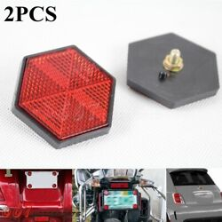 2pcs Red Reflector For Rear Tail Brake Stop Light Universal Car Truck Motorcycle