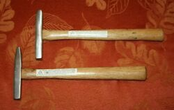 Servess Ht-1 Tack Hammers 2x Very Good Hickory Handles Each Has Variations