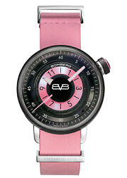 Bomberg Womenand039s Ct38h3pba-05-1-9 Bb-01 38mm Black/pink Dial Leather Watch