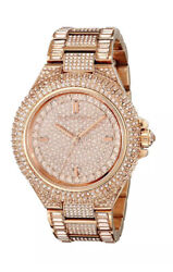 Camille Rose Dial Rose Gold-tone Crystal Ladies Watch Mk5862 Nwt
