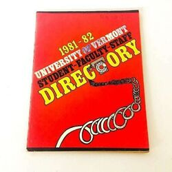 Vintage University Of Vermont Student Faculty Staff Phone Directory 1981-82