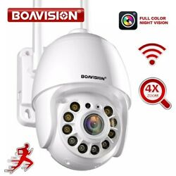 Full Color Night Vision Auto Tracking Wifi 1080p Ptz Dome Camera Outdoor