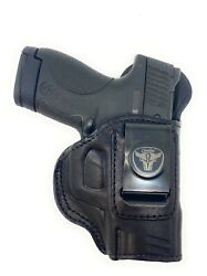 Cardini Leather Gun Holster For Glock 42. Iwb Leather Holster Conceal Carry.