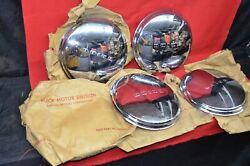 Nos Buick Dog Dish Hubcaps Wheel Covers 11 Poverty Hub Cap Oem Orig In Gm Bags