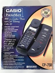 Casio Phonemate 900mhz Cordless Phone With Call Waiting And Caller Id Cp-750