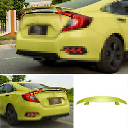 Green Rear Airplane Boot Spoiler Wing Flap Fit For Honda Civic Gt 2016-2020 Abs