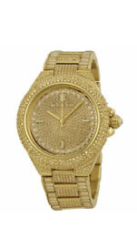 Mk5720 Womenand039s Camille Gold Tone Pave Crystal Glitz Ladies Watch