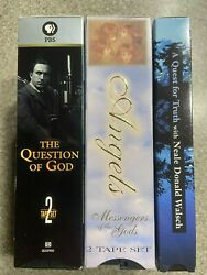Rare Vhs Lot-angels Messengers Of The Gods/question Of God Pbs/quest For Truth