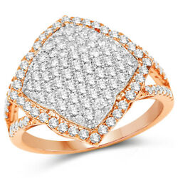 Christmas 2.15ct Natural Round Diamond 14k Solid Rose Gold Ring Size 7
