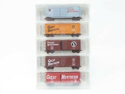 N Scale Micro-trains Mtl Nsc Gn Great Northern 40and039 Box Car Pre-con 5-pack Sealed