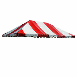 20' X 30' Frame Tent Canopy Red White Vinyl Premium West Coast Replacement Top