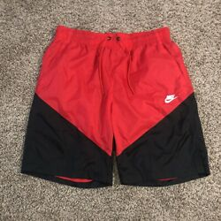 Nike NSW Windrunner Men#x27;s Track Shorts Size L Gym Red Black AR2424 657