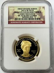 2012 W Gold 10 Francis Cleveland 3104 Minted Term 2 Spouse Coin Ngc Pf 70 Uc Er
