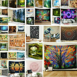 US Ship Psychedelic Tapestry Wall Hanging Art Throw Tapestries Background Decor