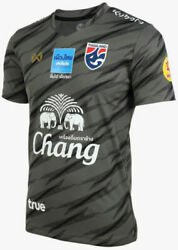 100 Official Thailand National Football Soccer Team Jersey Player Black