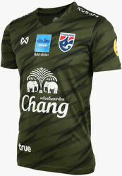 100 Official Thailand National Football Soccer Team Jersey Player Army Green