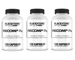 Blackstone Labs Recomp Rx Build Muscle And Burn Fat, Highly Anabolic - 3 Bottles