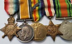 Ww1 And Ww2 Medal 1916 Mid Group 9th West Riding Regt Tunnelling Officer De Pinto
