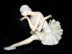 Price Cut Lladro Death Of A Swan Porcelain Figurine Genuine Collectible W/box