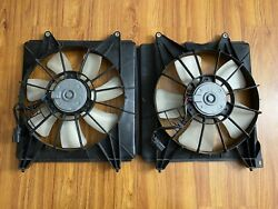 Left Right Radiator Cooling Fans 2.4l Acura Tsx 09 10 11 12 13 14 Oem