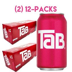 Two 2 12-pack Tab Cola Soda Pop 12oz Cans New In Box Discontinued Exp 02/22/21