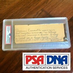 Thomas Edison Psa/dna Slab Sell Records Autograph Handwritten Note Signed