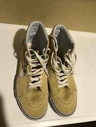 Vans Off The Wall World#x27;s #1 Skateboard Shoe High Tops Yellow Size 8M 9.5W